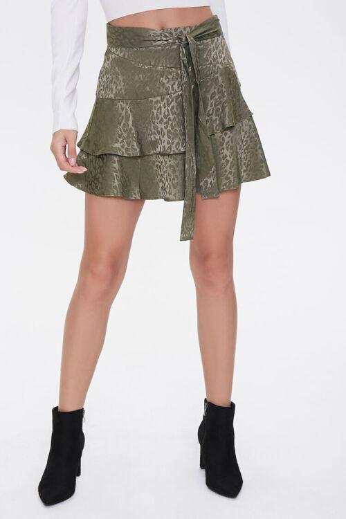 Jacquard Leopard Print Skirt, image 2