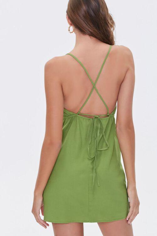Crisscross Linen-Blend Mini Dress, image 3
