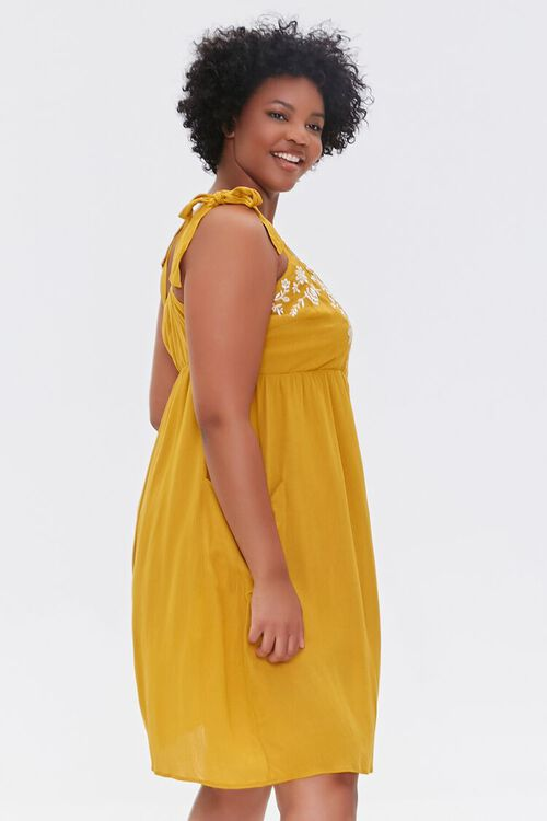 Plus Size Embroidered Floral Mini Dress, image 2