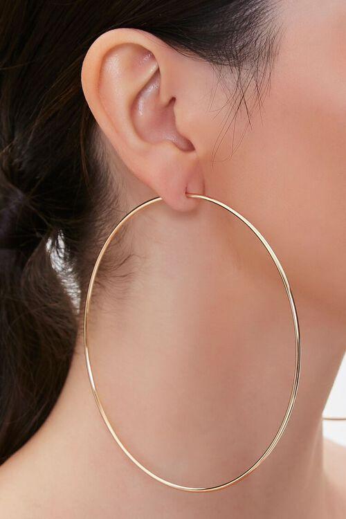 GOLD Oversized Hoop Earrings, image 1