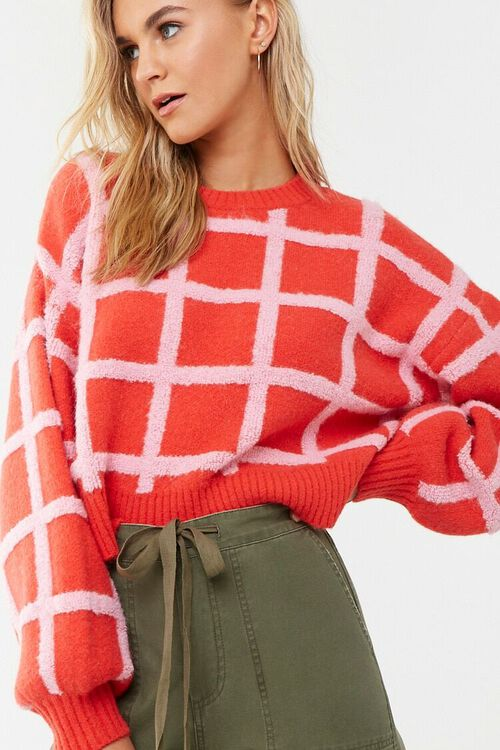 Grid Print Sweater, image 1