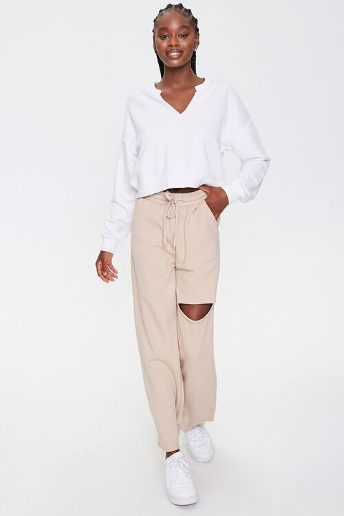 Ripped French Terry Sweatpants, image 1
