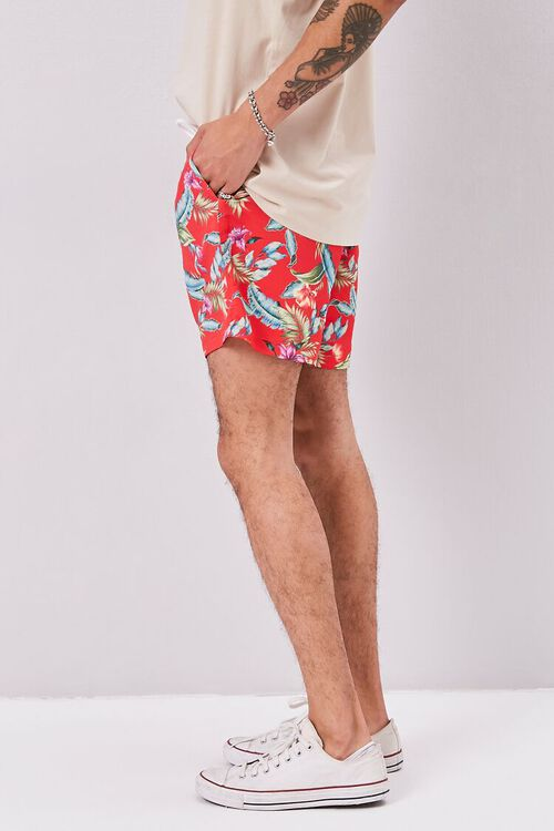 Tropical Print Swim Trunks, image 3