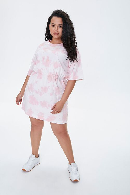 Plus Size Tie-Dye T-Shirt Dress, image 4