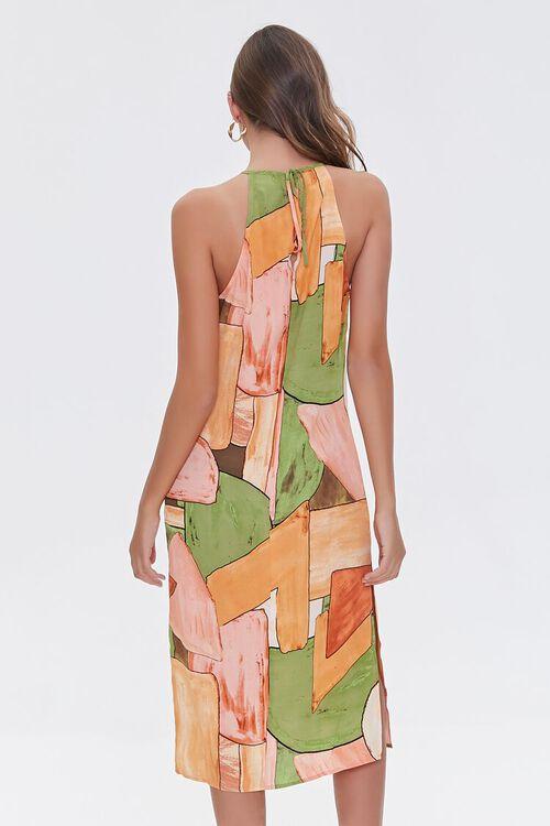 Abstract Print Halter Midi Dress, image 3