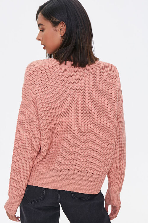 Lace-Up Cable Knit Sweater, image 3