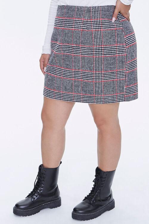 Plus Size Plaid Mini Skirt, image 2