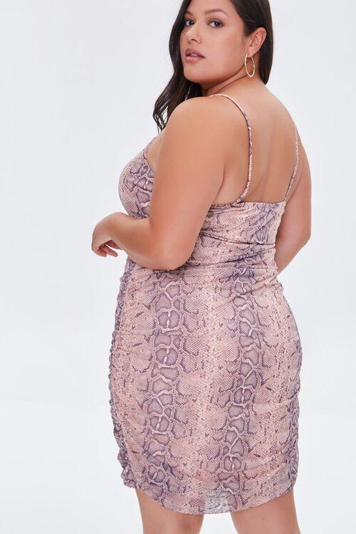 Plus Size Snakeskin Print Cami Mini Dress, image 3
