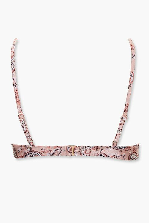 Paisley Print Bikini Top, image 2