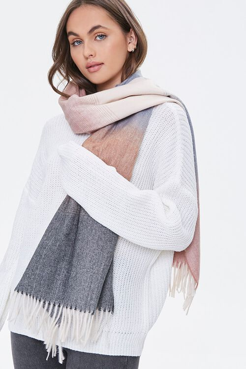 Ombre Wash Oblong Scarf, image 1