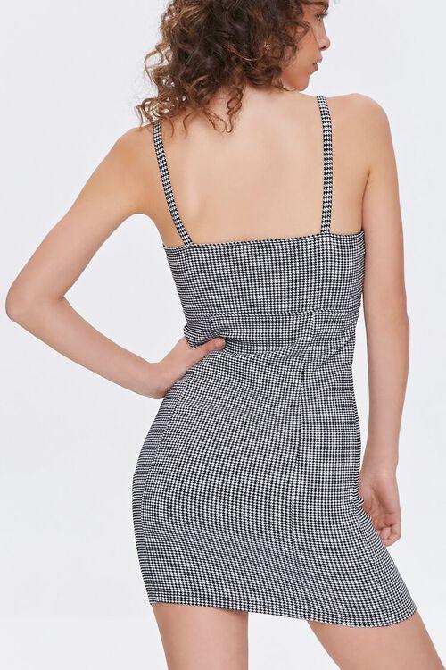 BLACK/CREAM Plaid Mini Dress, image 4
