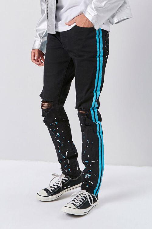 Paint Splatter Skinny Jeans, image 1