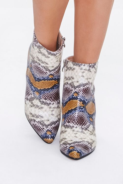 Faux Snakeskin Booties, image 4