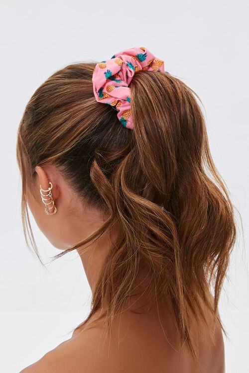 Pineapple Print Hair Scrunchie, image 1