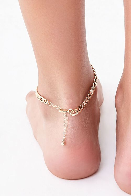 Chunky Curb Chain Anklet, image 3