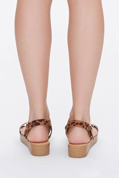 Cheetah Print Stacked Sandals, image 3