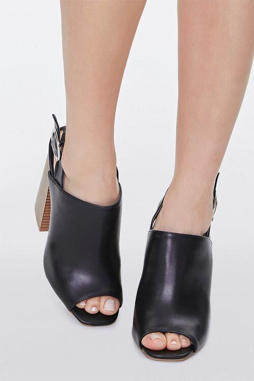 Stacked Wooden Block Heels, image 4