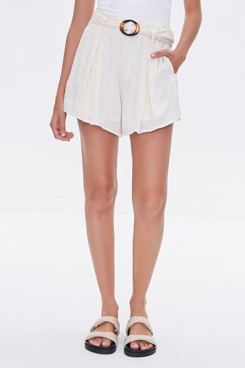 Tortoiseshell Belted Shorts, image 2