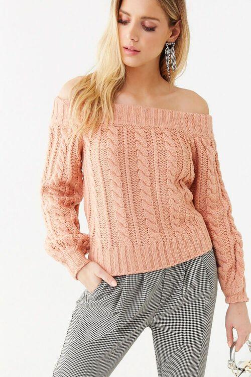 Off-the-Shoulder Sweater, image 1