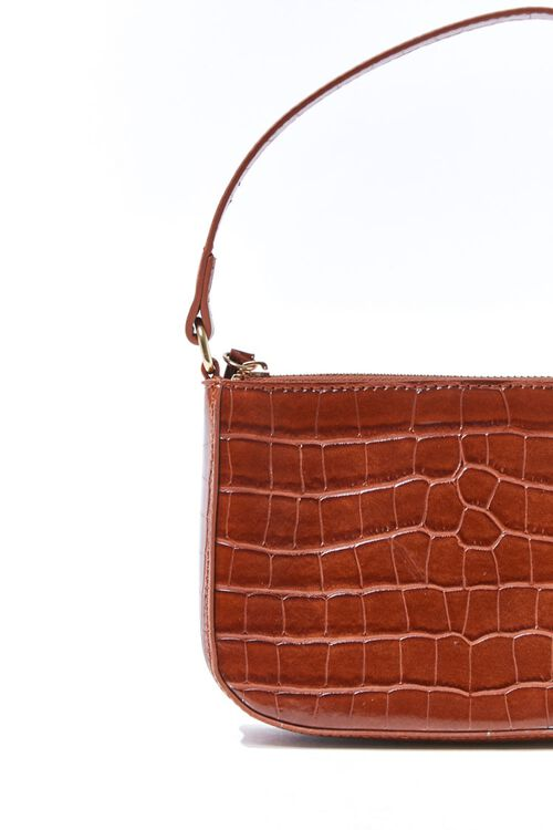 Faux Croc Leather Handbag, image 2