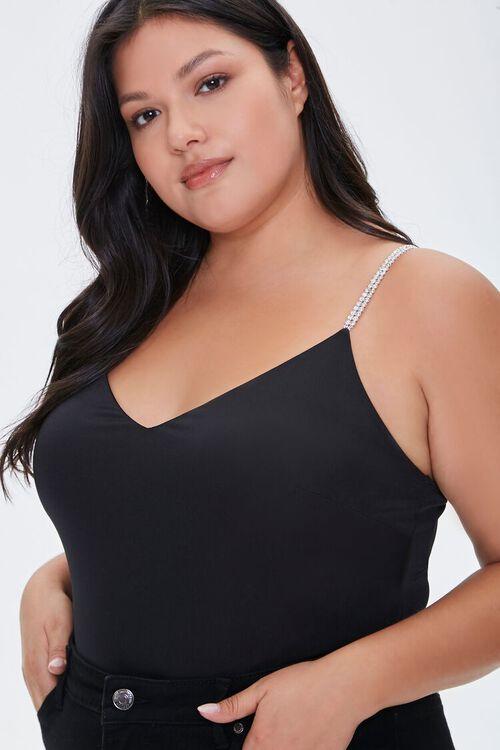 Plus Size Rhinestone Bodysuit, image 2