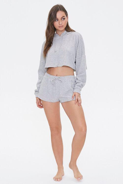 Hooded Heathered Pajama Top, image 4