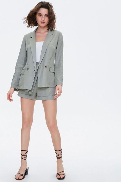 Double-Breasted Linen Blazer, image 4