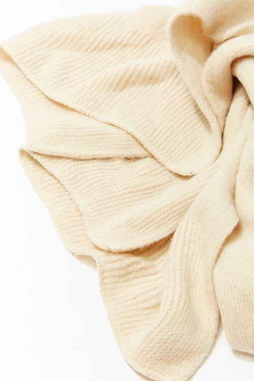 Brushed Ribbed Oblong Scarf, image 3