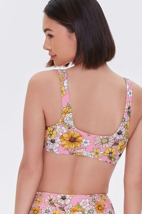 Floral Print Bikini Top, image 3