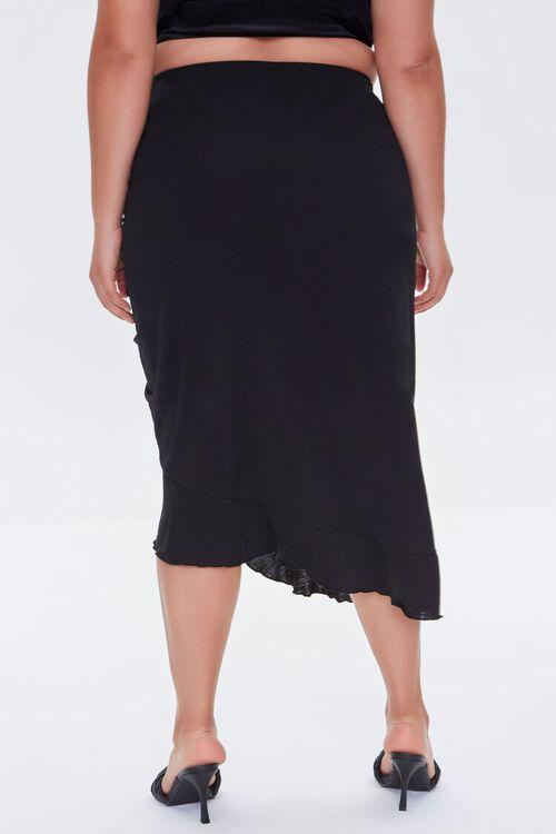 Plus Size Ruched Drawstring Midi Skirt, image 4