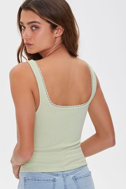 Crochet Lace-Trim Tank Top, image 3