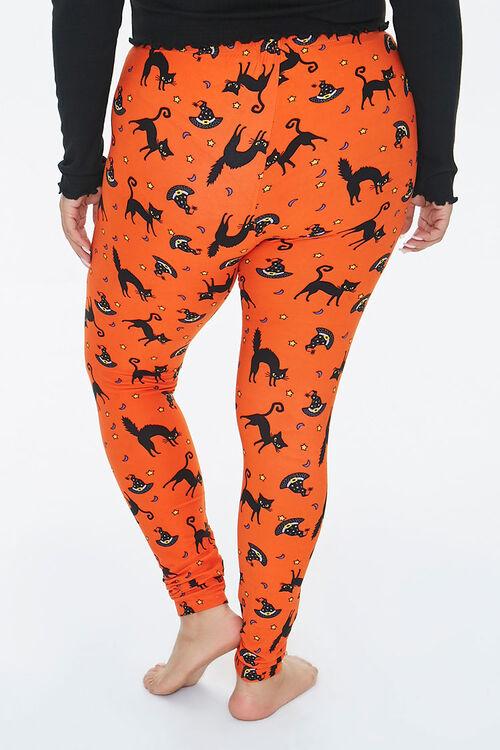 Plus Size Cat & Witch Hat Leggings, image 4