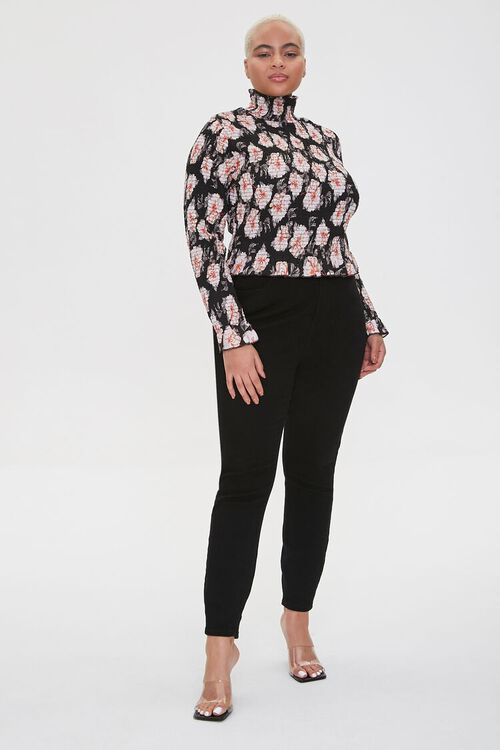 Plus Size Smocked Floral Top, image 4