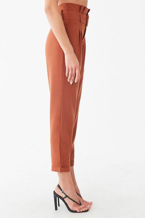 RUST D-Ring Belt Cuffed Trousers, image 2