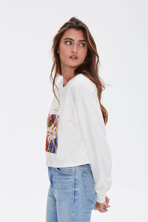 Floral Graphic Boxy Sweatshirt, image 3