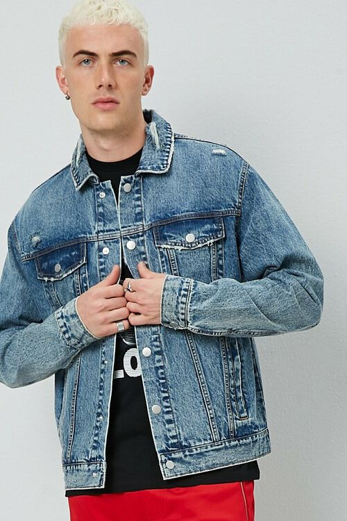 Distressed Denim Jacket, image 1