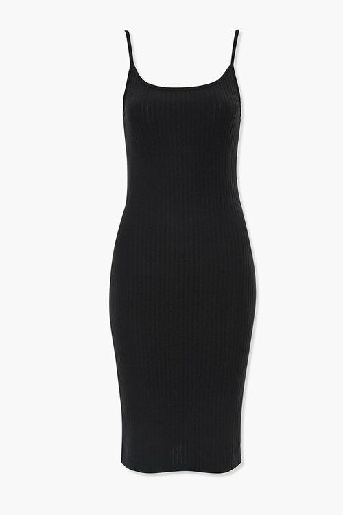 BLACK Ribbed Bodycon Dress, image 1