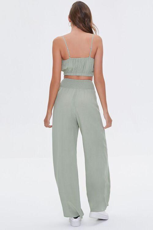 Crop Top & Wide-Leg Pants Set, image 3