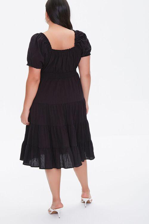 Plus Size Tiered Ruffle-Trim Dress, image 3