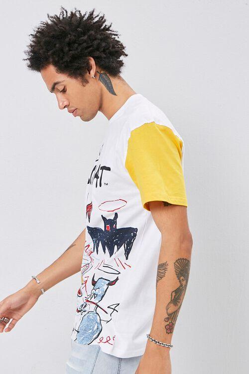 WHITE/MULTI Jean-Michel Basquiat Graphic Tee, image 2