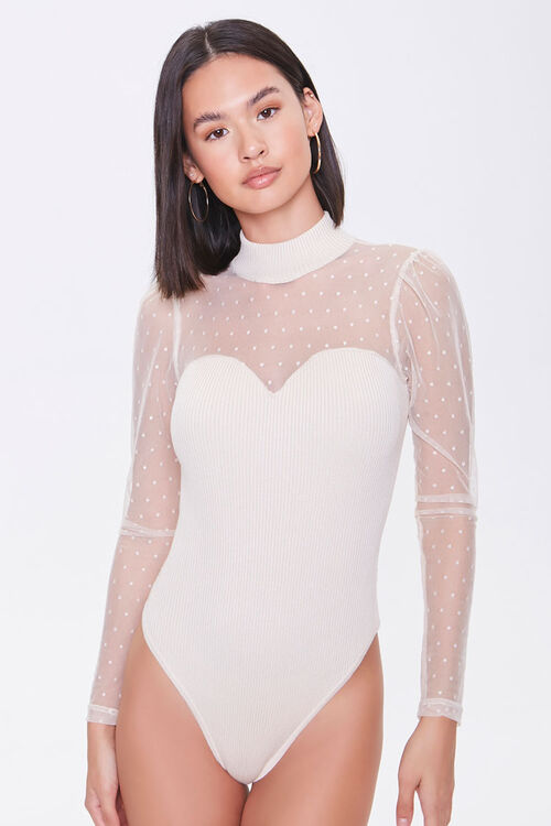 Dotted Sweater-Knit Bodysuit, image 5