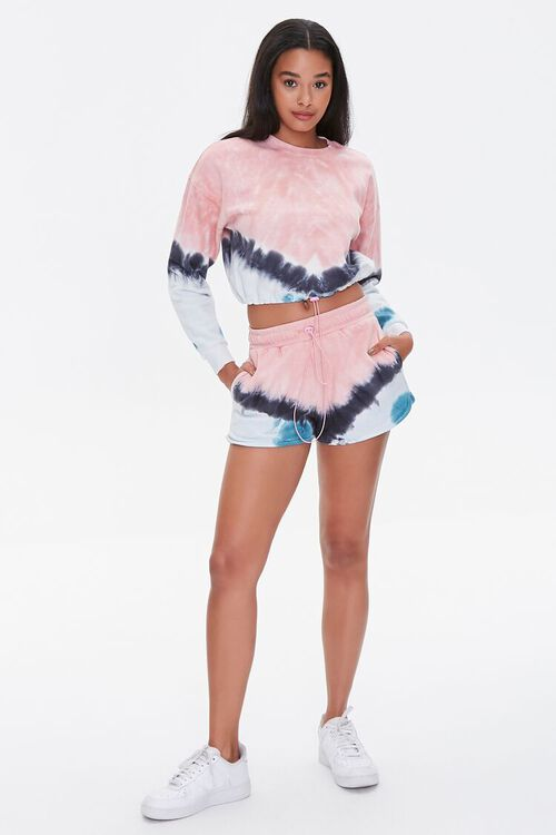 PINK/MULTI Tie-Dye Dolphin Shorts, image 5