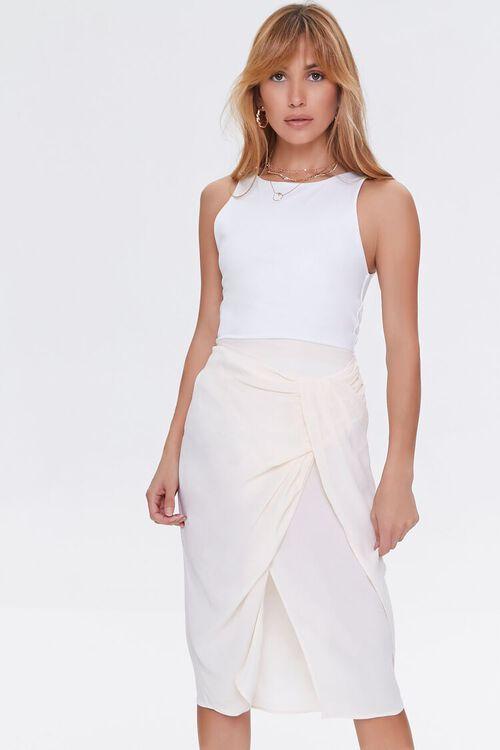 Gathered Crepe Skirt, image 1