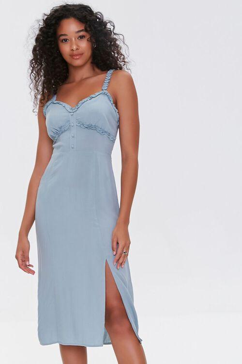 Sweetheart Ruffle-Trim Dress, image 1