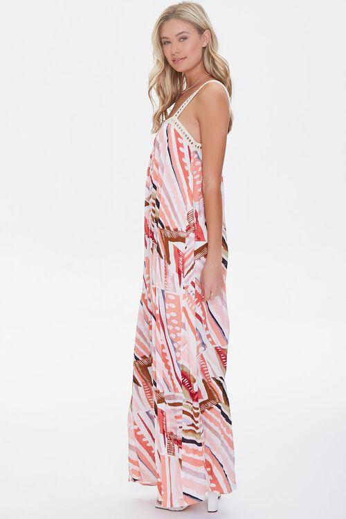 Crinkled Striped Crochet-Trim Dress, image 2