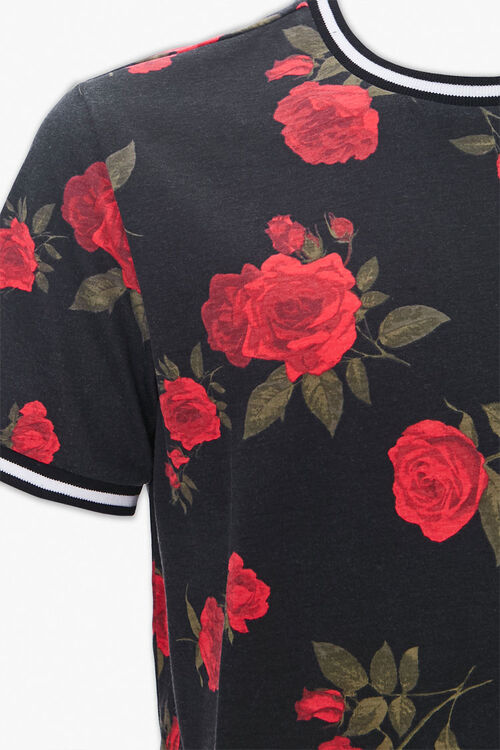 Rose Print Ringer Tee, image 3