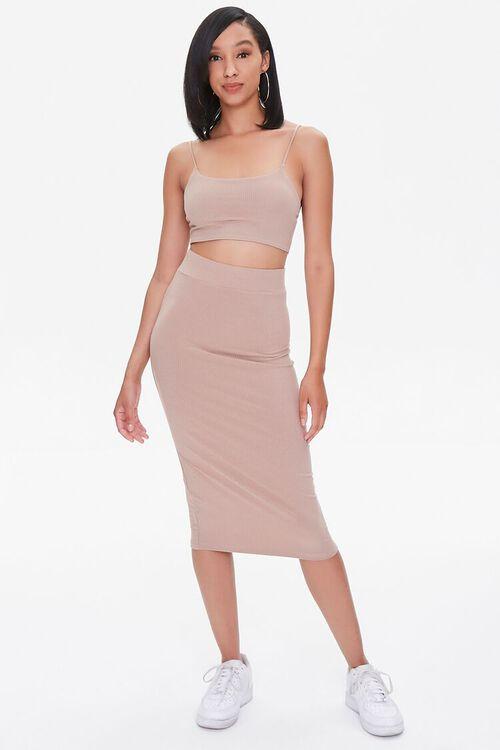 Cropped Cami & Pencil Skirt Set, image 4
