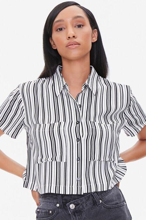 Striped Boxy Pocket Shirt, image 1