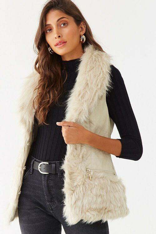 Faux Fur Vest, image 1