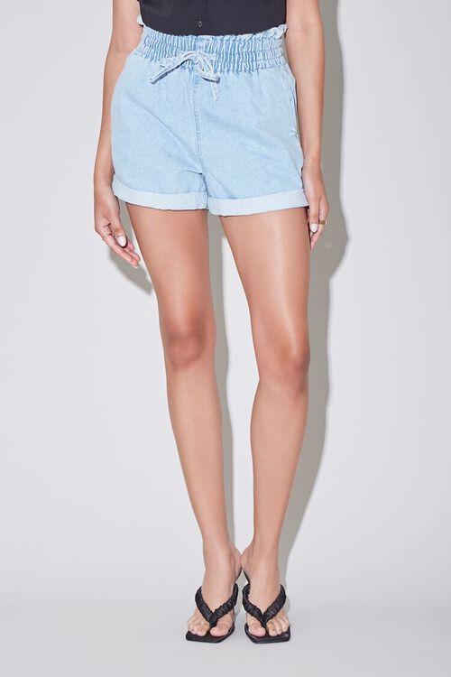 Paperbag Denim Shorts, image 2